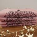 "Block printed 4PK washed cotton napkins | ""Elegance and Grace"""