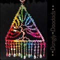 Large Triangle Rainbow Tree of Life Suncatcher