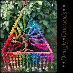 Large Triangle Rainbow Tree of Life Suncatcher
