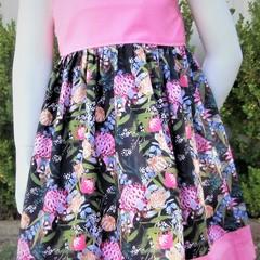 Little Girls Aussie Floral Summer Dress-Size 3