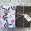 Birthday / Pamper Gift - 2 soaps + 1 gold tin of 4 tea light pure soy candles