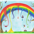 The Melting rainbow      Greeting cards