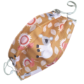 REVERSIBLE Triple Layer Face Mask - 100% cotton fabric - CARAMEL KOALA