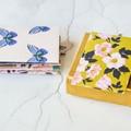 Button Coin Envelopes {6} Summer Mix   Blue Brown Ochre   Luxe Money Envelopes