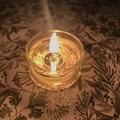 Tea light candle set - 1 gold tin of 4 tea light pure soy candles | Gift
