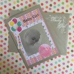 'So Loved' Baby Girl Card