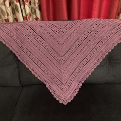 100% Cotton Crochet Handmade Shawl *FREE SHIPPING*