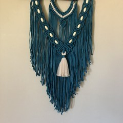 Deep emerald Macrame wall hanging