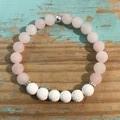 Rose Quartz & Lava Stone Bracelet