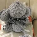 Charlie The Elephant, Amigurumi, Stuffed Animal, Crochet