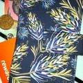 Navy Grevilla wallet