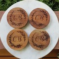 Personalised Chunky Timber Acacia Coasters - See more designs