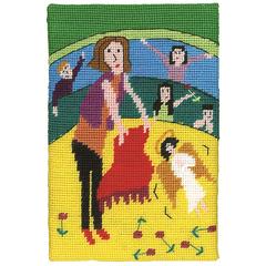 """Jennifer Pudney Needlepoint Kits - """"Like a Red Rag to an Angel"""""""