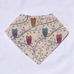 Owl Bandana bib