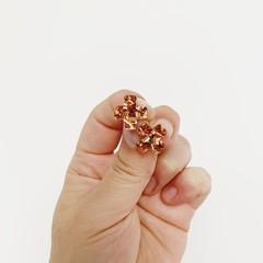 Copper Cross Stud Earrings