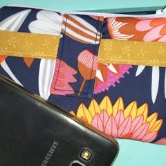 Navy wildflowers phone purse