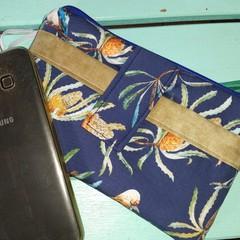 Navy Kookaburra phone purse