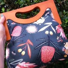 Dark green natives handbag