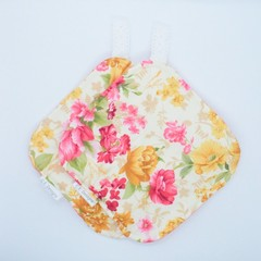 Pink & Yellow Floral Potholders - Matching Set of 2