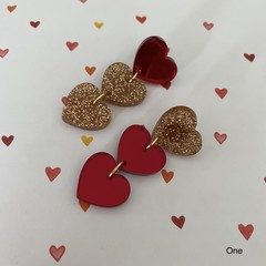 Chain of Hearts Dangle (Various Colours)