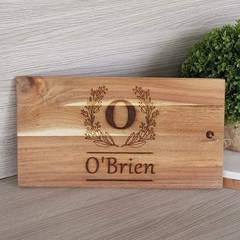 Personalised Light Acacia Wood Rectangle Board - See more designs