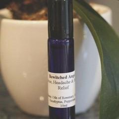 Stress, Headache & Sinus Relief Essential Oil Blend- Roll on Treatment