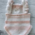 Baby knit romper, baby romper, baby overalls, soft baby romper, baby winter