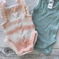 Baby knit romper, baby romper, baby overalls, soft baby romper, baby shower