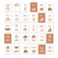 Rainbow Milestone Cards - Set of 30 - Rainbow Baby - Photo Prop - Nursery Decor