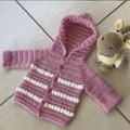 Baby knit jumper, sweater. Crochet Baby Hoodie, Kerry Jane Design. Active