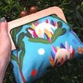 Teal Protea handbag