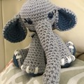 Charlie The Elephant, Amigurumi, Stuffed Animal, Crochet