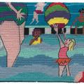 "Jennifer Pudney Needlepoint Kits - ""At the Pool"""