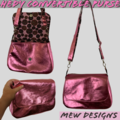 Hedy Convertible Clutch - Pink Leather
