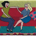 "Jennifer Pudney Needlepoint Kits - ""Girl Talk"""
