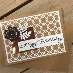 Birthday Metallic & Lattice card