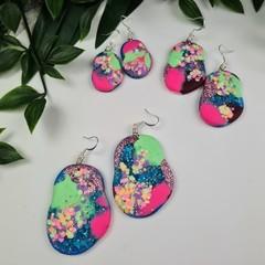 Fantasy Pebble -  Drop Earrings -  Resin - Dangle earrings