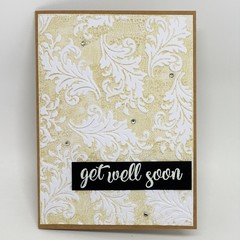 Get Well Card - Get Well Soon swirly leaves