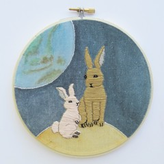 DIY Kit 'There're bunnies on the moon'