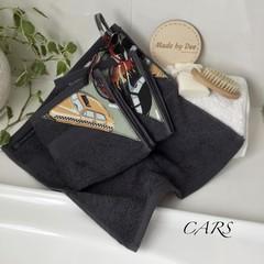 """""""CARS""""     BATH WASHERS // MINI HAND TOWEL"""