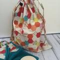 Library Drawstring Bag  - HONEYCOMB