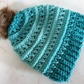 Toddler size Green Beanie