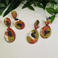 Metalic Sparkle Collection -  Resin Earrings - Dangles and Studs