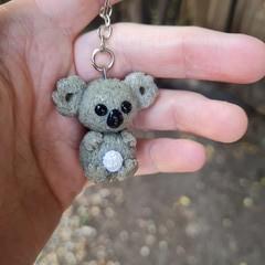 Polymer clay koala keyring / bag charm