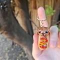 Polymer clay Hotdog keyring / bag charm