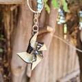 Polymer clay pinwheel keyring/bag charm