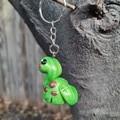 Polymer clay Dinosaur keyring / bag charm