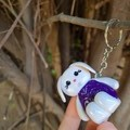 Polymer Clay Easter Bunny Rabbit Keyring / bag charm