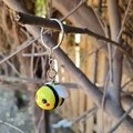 Polymer clay Bumble bee keyring / bag charm