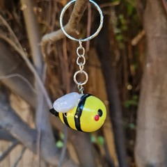 Polymer clay Bumble bee keyring / bag charm